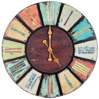 Multi Color Round Wooden Wall Clock | Shop Hobby Lobby