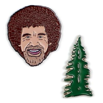 PHILOSPHERS GUILD BOB ROSS & TREE PINS
