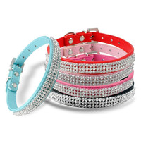 Diamante Rhinestone Dog Collar