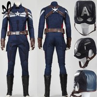 Halloween costumes adult Captain America 2 the winter soldier Cosplay Costume superhero captain america costume adult steve suit