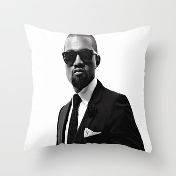 Mr. West Throw Pillow by Neon Monsters