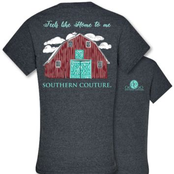 Southern Couture Preppy Home to Me Barn T-Shirt