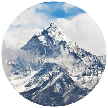 Ice Capped Mountains Circle Wall Decal