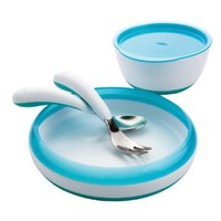OXO Tot 4 Piece Feeding Set, Aqua