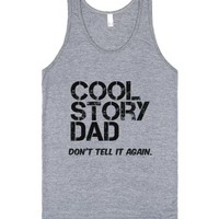 Cool Story Dad 2-Unisex Athletic Grey Tank