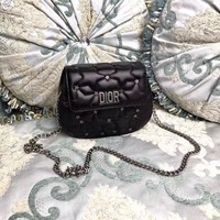 DIOR WOMEN'S NEW HOT STYLE LEATHER INCLINED CHAIN SHOULDER BAG