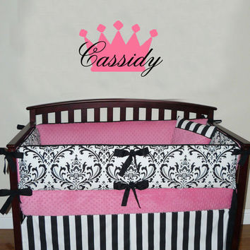 Princess Crown Personalized Vinyl Wall Art Decal