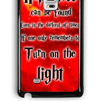 Samsung Galaxy Note Edge Case - Hard (PC) Cover with Harry Potter Quotes Happiness Can be Found Even in The Darkest of Times If One Remembers Plastic Case Design