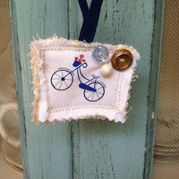 Paris bicycle with flower basket necklace, shabby chic necklaces, retro necklaces
