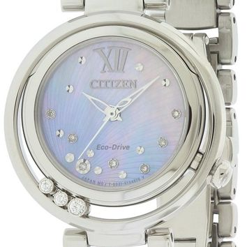 Citizen Eco-Drive Stainless Steel Diamond Watch EM0321-56D
