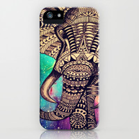 galaxy elephant tribal aztec pattern iPhone & iPod Case by tepras | Society6