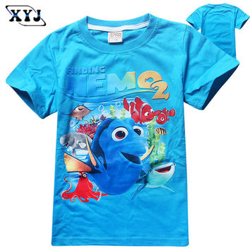 149bef3431 2016 Fashion Children Cartoon Finding Dory T-Shirt Girls Tops Fi