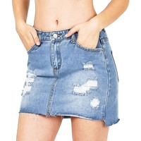 Cast Away Denim Mini