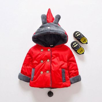 Fall winter newborn baby girl clothes outdoor cotton-padded jackets outerwear for girl baby clothing casual hooded jackets coats