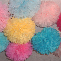 Tissue paper poms #Wedding decorations #Baby shower #Wedding anniversary #Bridal party #Party decorations #Set of 25