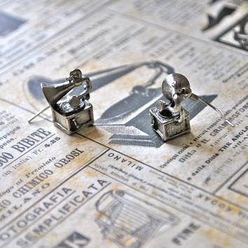 Gramophone Earrings