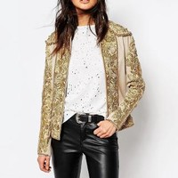 A Star Is Born | A Star Is Born All Over Embroidered Trophy Jacket at ASOS