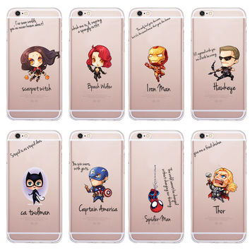 The Avengers Superhero Case For Apple iPhone 6 6s Back Cover Phone Cases iron Maniron Man Captain America Raytheon