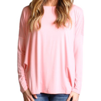 Rose Quartz Piko Long Sleeve Top