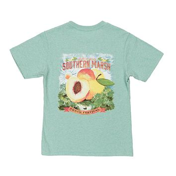 Youth Peach Festivals Tee Shirt by Southern Marsh