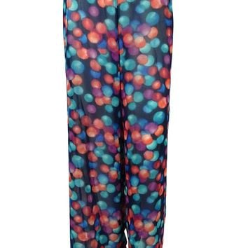 Bar III Women's Printed Pants Swim Cover Up