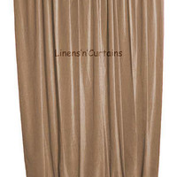 MOCHA VELVET Curtains - Backstage Curtains - Background Curtains - THEATER Curtains Panels in many sizes