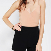 Pins And Needles Colorblock Surplice Romper - Urban Outfitters