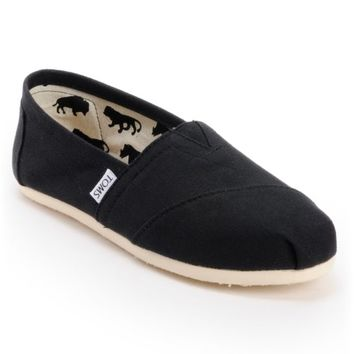 Toms Classics Canvas Black Slip-On Women's Shoe