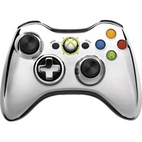 Microsoft - Special Edition Chrome Series Wireless Controller for Xbox 360 - Silver/Chrome