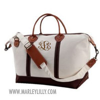 Monogrammed Black Sunshine Satchel Duffle Bag | Marley Lilly