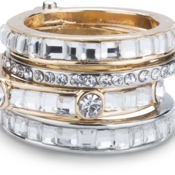 Crystal - Ring with 4 Stacked Crystal Layers