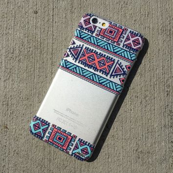 Henna Colored Aztec 3 - Clear TPU Case Cover Phone Case
