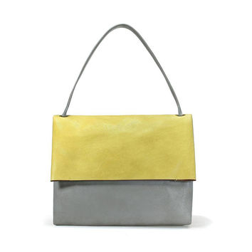 Oversized Fold Over Shoulder Bag With Pouch