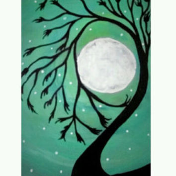Mommy and Me Painting, handpainted wall decor, Mothers day gift, Gift for mom, Silhouette Paintings, Personalized gifts, custom order,