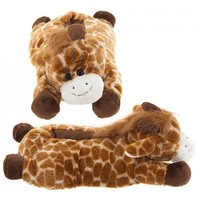 Adult & Children Kid Size Giraffe Animal Plush Fuzzy Slippers