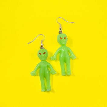 alien hanging earrings / extraterrestrial earrings