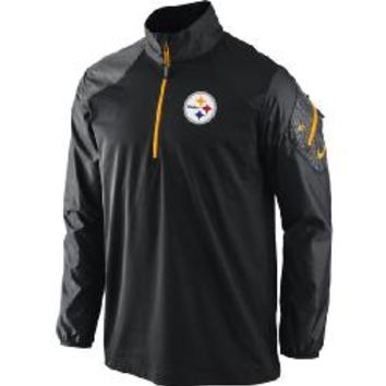Pittsburgh Steelers Nike 1/2 Zip Dri-FIT Hybrid Jacket - Official Online Store