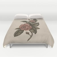Roses Duvet Cover by Jessica Roux