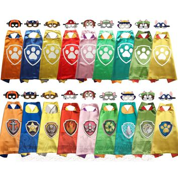 Kids Dress up Costumes Boys and Girls Superhero Capes Masks double side for Children Cosplay Birthday Party