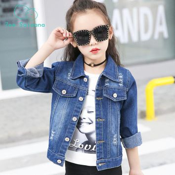 Zoe Saldana 2018 Baby Girl Clothes Children Spring Autumn Coat Unisex Boys Girls  Denim Jackets Girls Coat Kid Outerwear