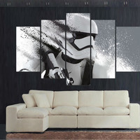 5 piece canvas art Print Stormtrooper Star Wars movie poster canva painting decorations for home print oil Painting art \C-33