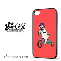 Pug Bicycle For Iphone 4 Iphone 4S Case Phone Case Gift Present