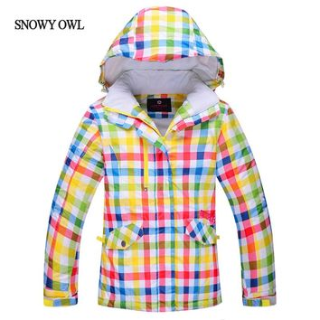 2017 Girls Winter Waterproof Windproof Kids Ski Jacket Children Outdoor Warm Hooded Snowboard Sports jacket h50