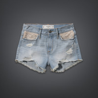 Gilly Hicks High Rise Denim Shorts