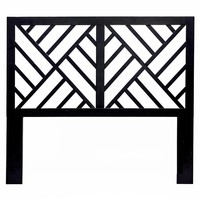 Black Chinoiserie Queen Sized Headboard - City of Z Design