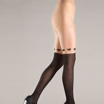 Sexy High Rise Hollow Out Print Pantyhose Socks [4914600324]