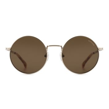 Komono Crafted Series Lennon Sunglasses in White Gold