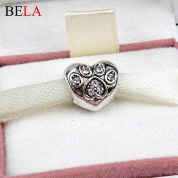 2015 New Charms Fit Original Pandora Bracelet Necklace 925 Silver Plated New Year Chri