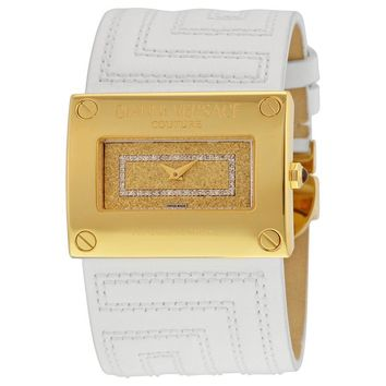 Versace V-Couture Oriz Diamond Dial Leather Ladies Watch 71Q70SD01F-S001