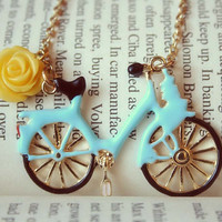 Fetch me with your bicycle necklace